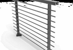 Barandilla con varilla horizontal